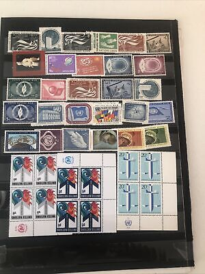 Collection Un All Mint Nh On Pages Inscription Blocks Strips  X-57