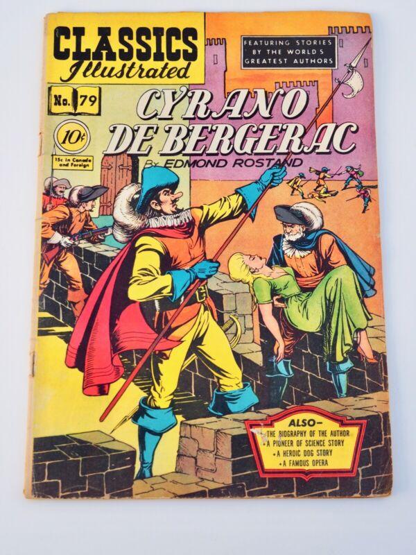 CLASSICS ILLUSTRATED #79 CYRANO DE BERGERAC ( HRN 78) 1/1951