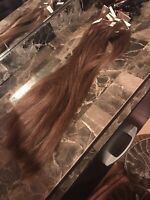 Used Tape in hair extensions