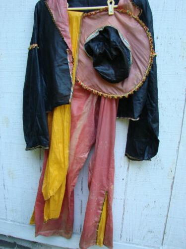 Vintage 40s 50s Gaucho Cowboy Costume Hat 4pc M Cotton