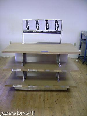 3 Tier Shelf Merchandiser Jeans Display Table Retail Display Shelving Unit