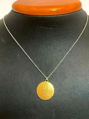 Gurnham Disc SS Necklace 24K Gold Vermeil  GKN-OFP-.063-H