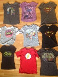 Nine SuperHero shirts, BUNDLE!GIRLS (9-14 years old)