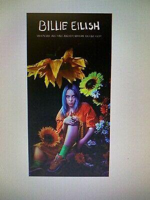 BILLIE EILISH 12X24 POSTER OCEAN EYES WHEN WE ALL FALL ASLEEP, WHERE DO WE GO?
