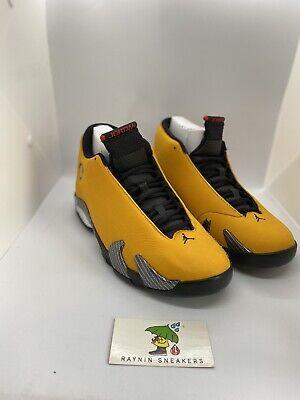 Nike Air Jordan 14 XIV Reverse Ferrari Yellow Size 9.5 BQ3685-706 DS