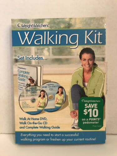 Weight Watchers Walk At Home DVD, WAlk On-The-Go CD And Complete Walking Guide - $7.49