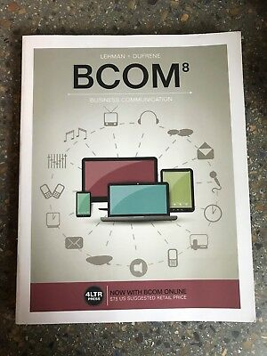 BCOM8 Business Communication Textbook; Lehman & Dufrene with Online Access Code for sale  Shipping to South Africa