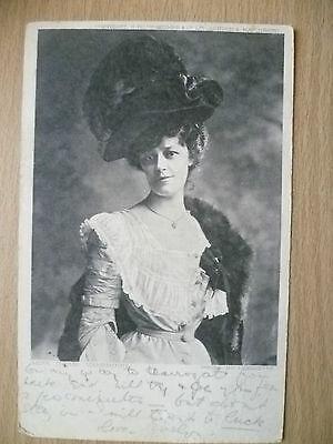 1903 Postcard- Actress MISS IRENE VANBRUGH by Lafayette + Stamp