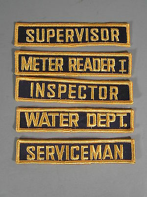 25 New Old Stock Uniform Patches / New Old Stock Closed Embroidery Co/ FREE Ship