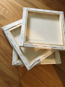 5 toiles pour peinture 10po X 10po