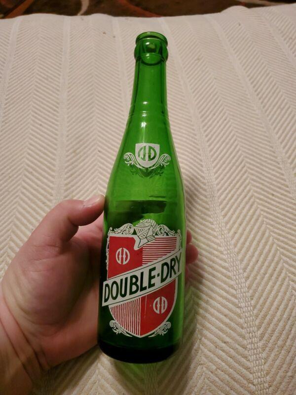 Vintage Double-Dry Soda Bottle 12 oz, Vincennes, Indiana