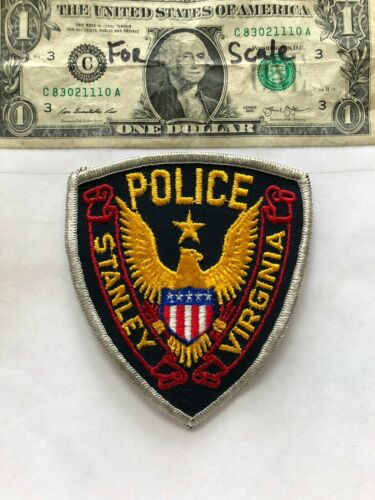 Very Rare Stanley Virginia Police patch  Un-sewn great condition