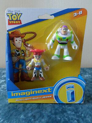 Imaginext - Toy Story 4 - Disney Pixar - Buzz Lightyear & Jessie Figures - NIP