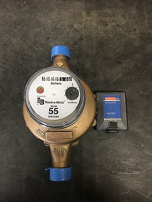 Badger 1 M55 Gallon Water Meter Pulse Register And Remote