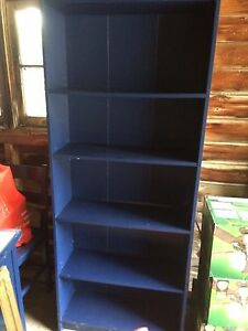 Navy blue shelf