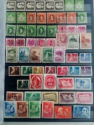 Hungary 1946-1951 collection of 207 stamps mainly used