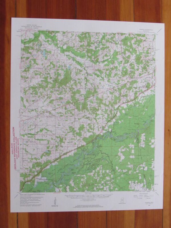 Sharon Mississippi 1961 Original Vintage USGS Topo Map