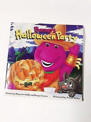 Barney's Halloween Party Vintage Barney Book Childrens Stories 1996 by Dudko - Barney Halloween Book