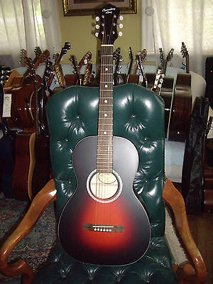 Recording King RPH-05 Solid Top Parlor 0 Size Acoustic Guitar w/ Gig Bag
