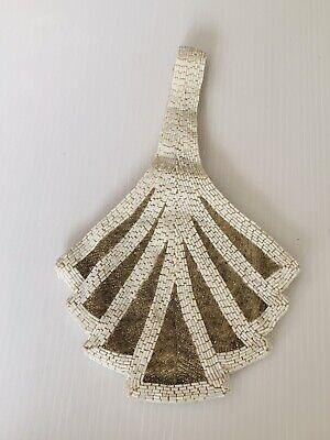 1920s Style Purses, Flapper Bags, Handbags Alannah Hill Handbag Beaded Bag White Gold Bugle 1920's Wedding Cocktail Party S $42.55 AT vintagedancer.com