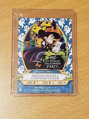 Disney 2015 Sorcerers Of The Magic Kingdom MNSSHP Halloween Party Card Minnie