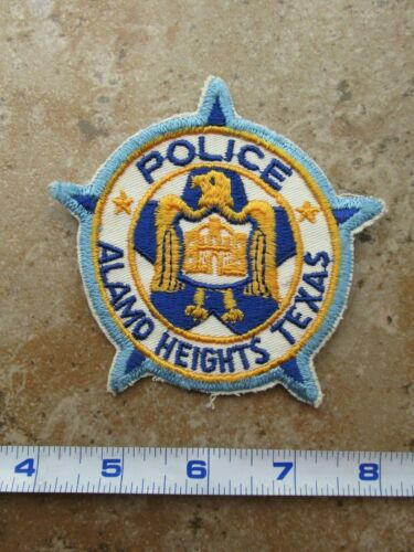 OBSOLETE Vintage State of Texas San Antonio Alamo Heights Police Patch