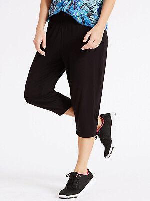 PLUS SIZE M&S LADIES Womens Cropped Gym Yoga Pants Joggers Summer Bottoms