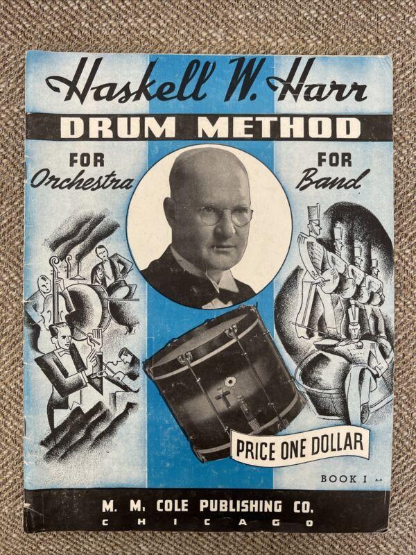 Original Vintage 1938 Haskell W. Harr Drum Method