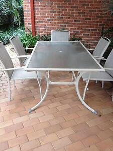 7 piece outdoor furniture setting. Beecroft Hornsby Area Preview