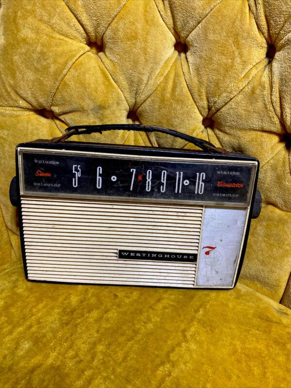 Rare WESTINGHOUSE Seven TRANSISTOR Handheld RADIO Leather Case Working Gr8 Travl