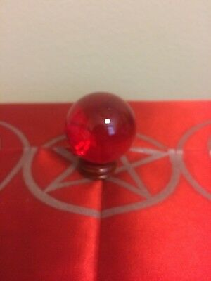 50mm Red crystal ball Pagan Wiccan Ritual Altar Supply