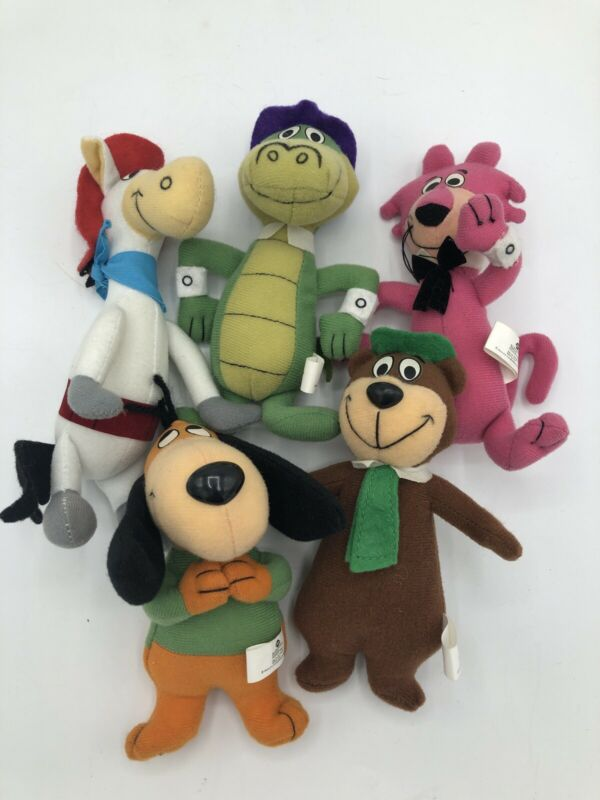 "LOT OF 5 HANNA BARBERA CHARACTERS DAIRY QUEEN 6"" PLUSH TOYS 2000"