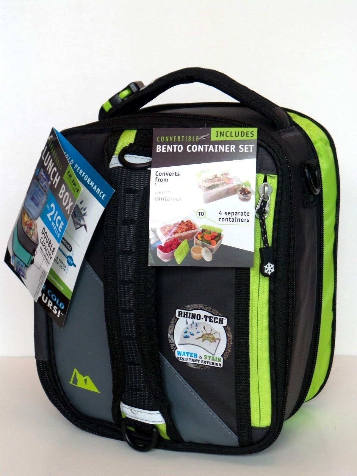 ultra expandable bento lunch box insulated cooler