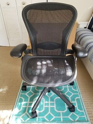 Herman Miller Fully Loaded Size B Aeron Chair - Excellent Condition
