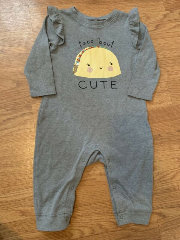 Old Navy Baby Long Sleeve Taco Romper 6-12 Month Baby Girl