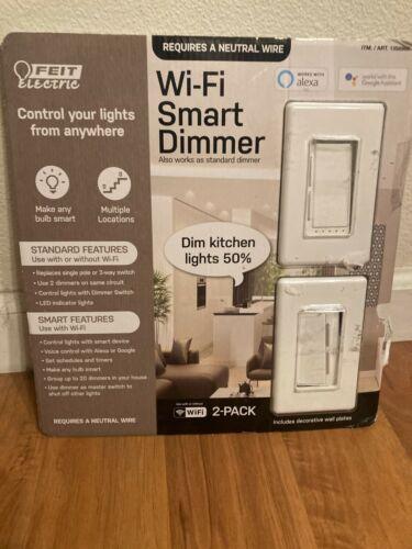 Feit Electric Wi-Fi Smart Dimmer 2-PACK ~ 3-Way Single Pole Switch Alexa Google