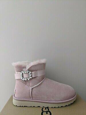 Ugg Australia Womens  Mini Side Brooch Boots Size 7 NIB