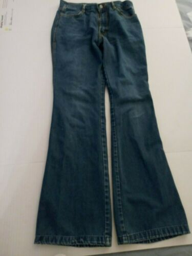 Authentic VINTAGE 1970s Brittania Hippy Flare Bell Bottom zipper Fly Jeans 32