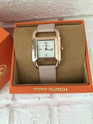 NEW IN BOX Women's Tory Burch The Phipps Leather Strap Watch 29MM Pink