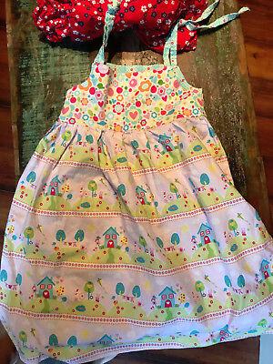 Garden Themed Dress (Custom Garden Floral Theme Dress Tie Shoulder Sz)