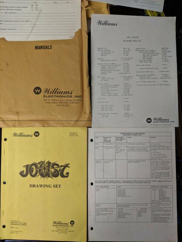 Joust - Williams - Manual - Schematics - Instructions - Book - Original Used