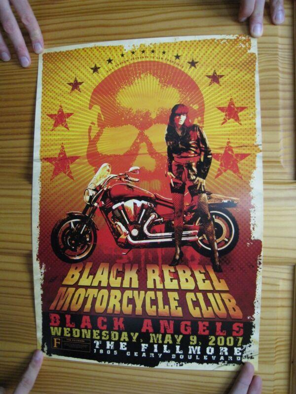 Black Rebel Motorcycle Club Poster BRMC B.R.M.C. Fillmore Black Angels May 2007