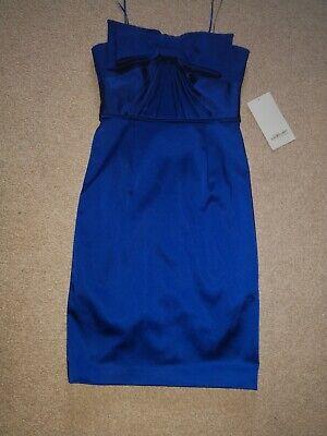Bnwt Jill Stuart Designer Now Cobalt Blue Strapless Bodycon Dress 10
