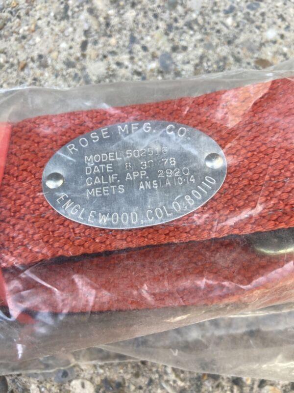 NOS Vintage 1978 ROSE MFG CO Lineman Safety Climbing Belt Model 502516 USA