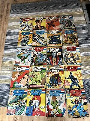 Vintage 1980's Action Force Comics / G.I. Joe X 20
