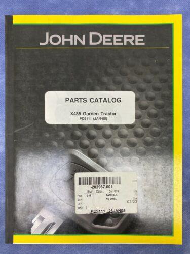 John Deere Parts Catalog For X485 Garden Tractor PC9111