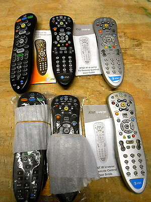 Remote Controls TV Cable ATT Uverse Mixed Lot New & Used (6)