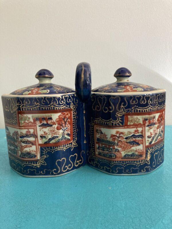 Antique IronStone China Tea Caddy