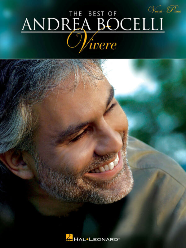 The Best of Andrea Bocelli Vivere for Vocal Piano Sheet Music Lyrics Song Book