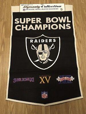 Oakland Raiders Wool NFL Dynasty Banner